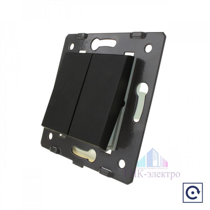 Двухклавишная механическая кнопка (звонок) Livolo, цвет черный (механизм)