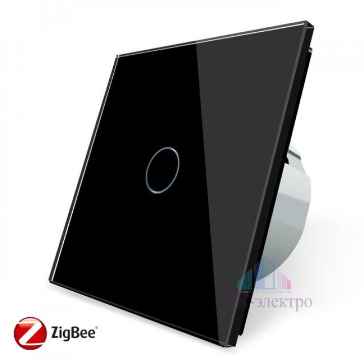 Сенсорный выключатель Livolo ZigBee (Wi-Fi) 1 клавиша 1 модуль Черный