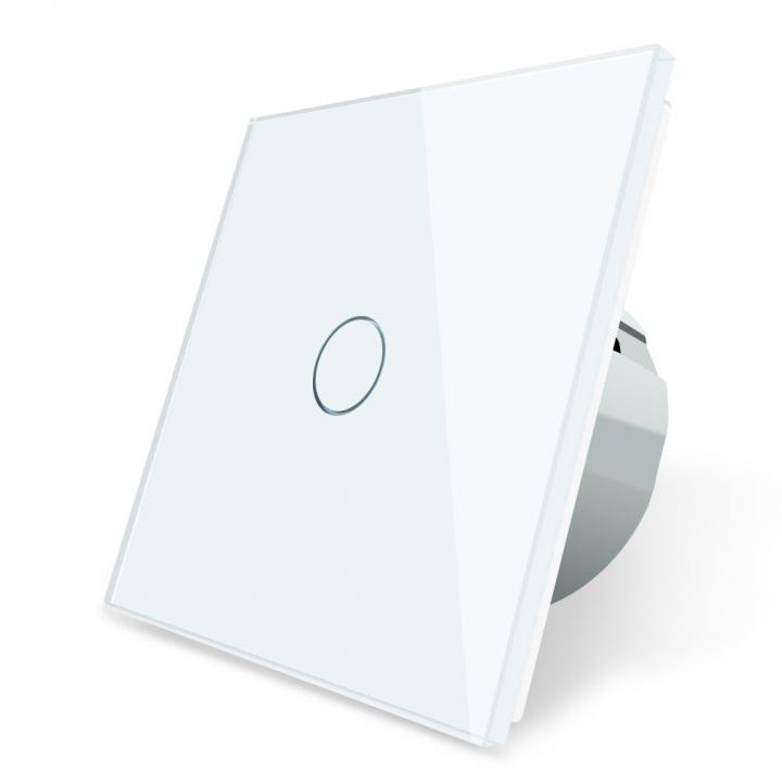 Сенсорный выключатель Livolo 1 клавиша 1 пост Белый