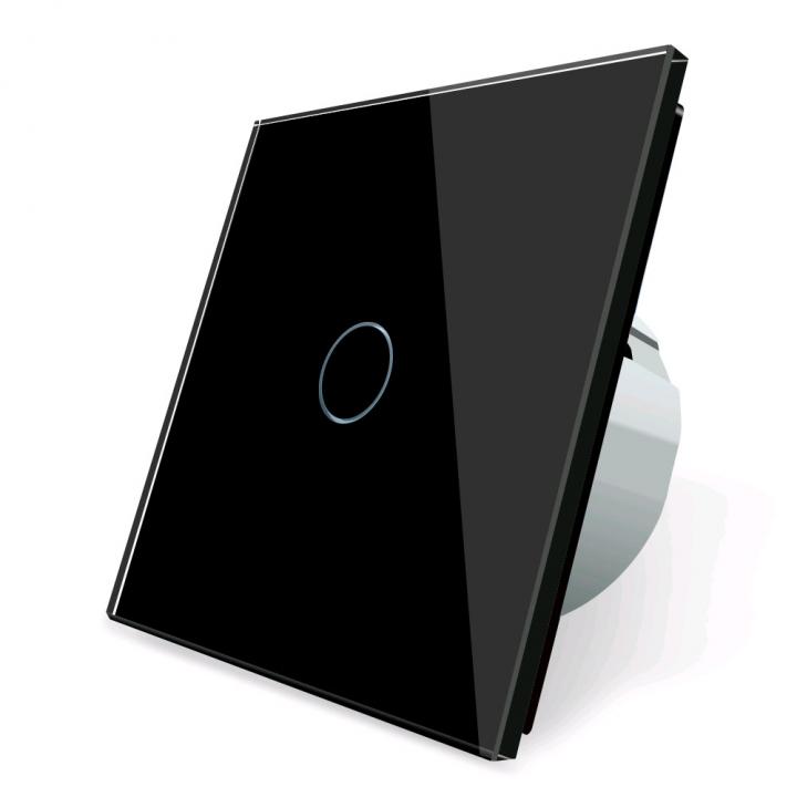 Сенсорный выключатель Livolo 1 клавиша 1 пост Черный