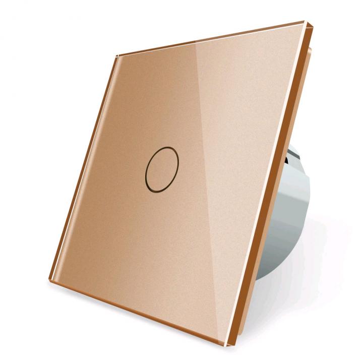 Сенсорный выключатель Livolo 1 клавиша 1 пост Золотой
