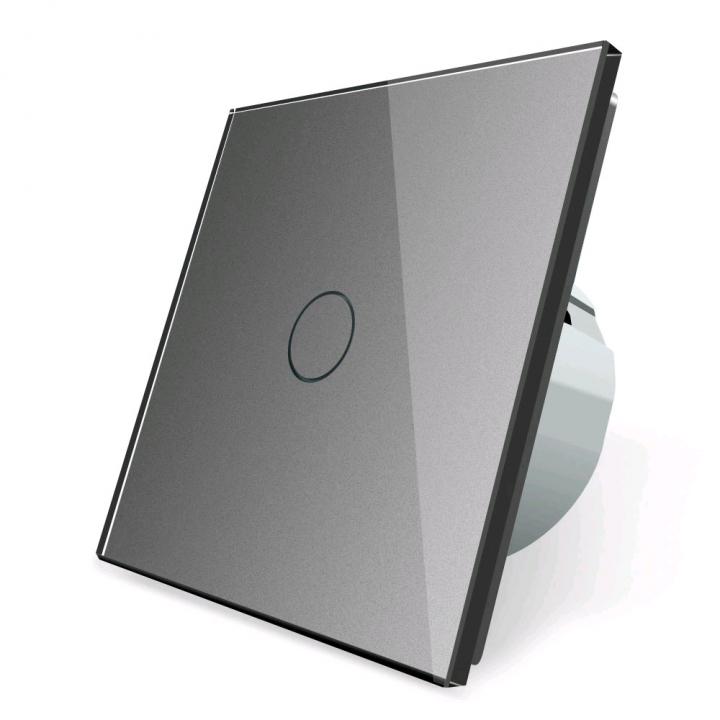 Сенсорный выключатель Livolo 1 клавиша 1 пост Серый