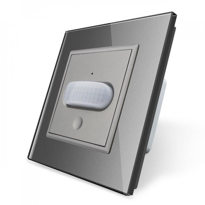 Датчик движения Livolo с сенсорным выключателем Серый