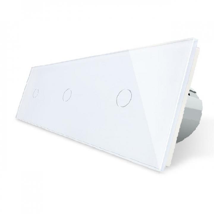 Сенсорный выключатель Livolo 3 клавиши (1+1+1), 3 поста Белый